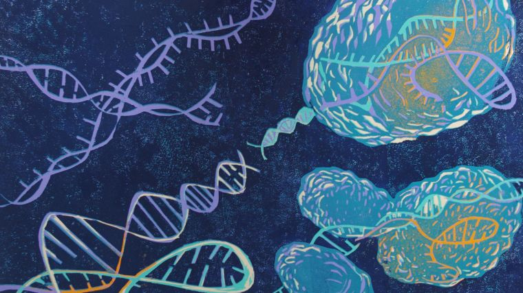Artistic print of DNA