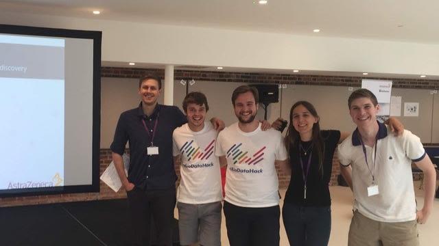 Dphil gms students win astrazeneca challenge at biodatahack