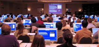 Students using computers at the MRI Graduate Programme