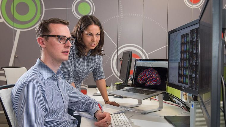 Image of researchers working at FMRIB