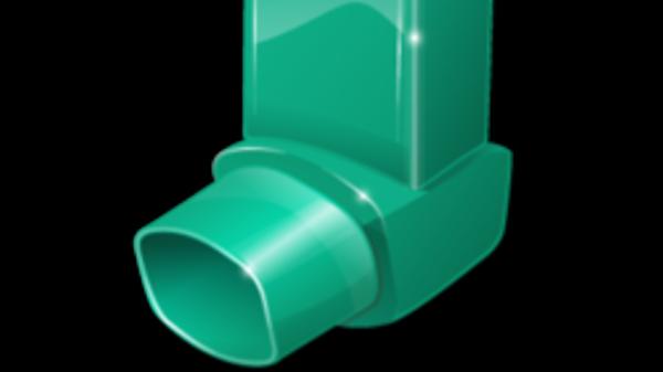 Photograph of green inhaler