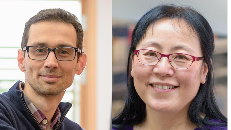 A collated profile photo of Benjamin Schuster-Böckler and Xin Lu