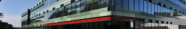 A photo of the outside of the Old Road Campus Research Building