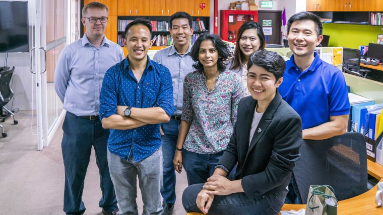 Head of Epidemiology Prof Richard Maude with some MORU Epidemiology core team members in their Bangkok offices