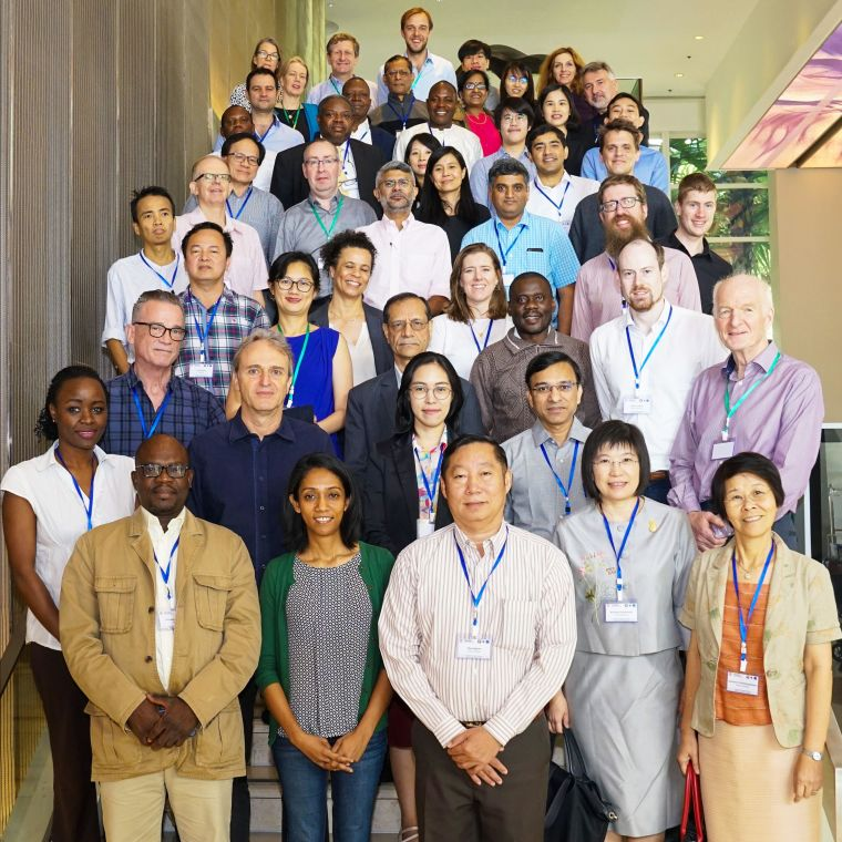 Group picture of the investigators involved in the Developing Triple Artemisinin-based Combination Therapies (DeTACT) project.