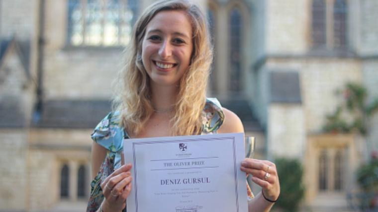 Deniz gursul has been awarded the inez oliver prize