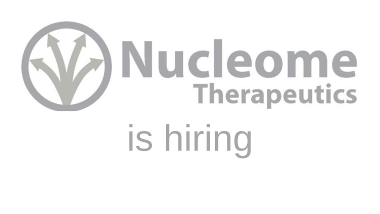 Nucleome is hiring flyer