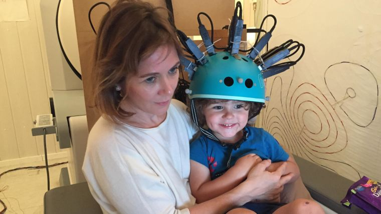 A new wearable 'bike helmet' style brain scanner, that allows natural movement during scanning, has been used in a study with young children for the first time. This marks an important step towards improving our understanding of brain development in childhood.