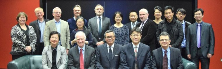 Group photo of Prof Gao's visit to Oxford