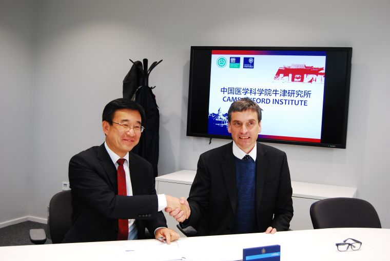 Professor Chen Wang and Professor Gavin Screaton