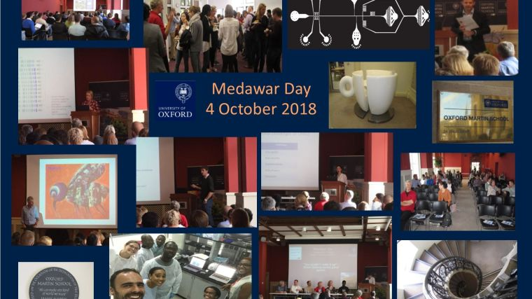 Medawar Day advertisement poster - multiple images of people attending lectures