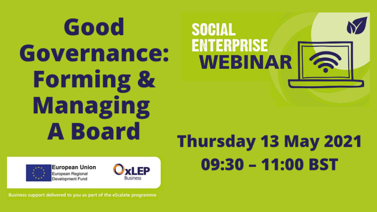 Good Governance: Forming & Managing A Board flyer