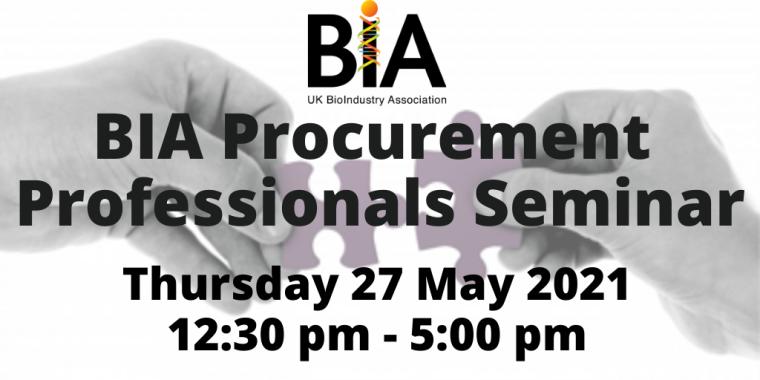 BIA Procurement Professionals Seminar flyer