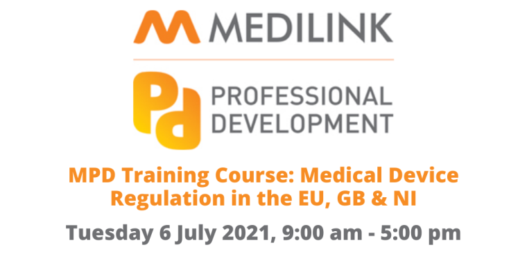 MPD Training Course: Medical Device Regulation in the EU, GB & NI flyer