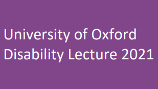 disability lecture 2021