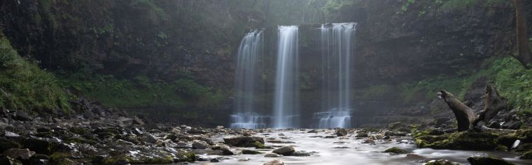 Sgwd yr Eira waterfall in the Brecon Beacons, Wales