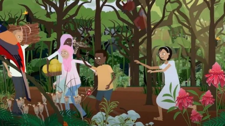 Still from animation 'How do you estimate the condition of a forest?'
