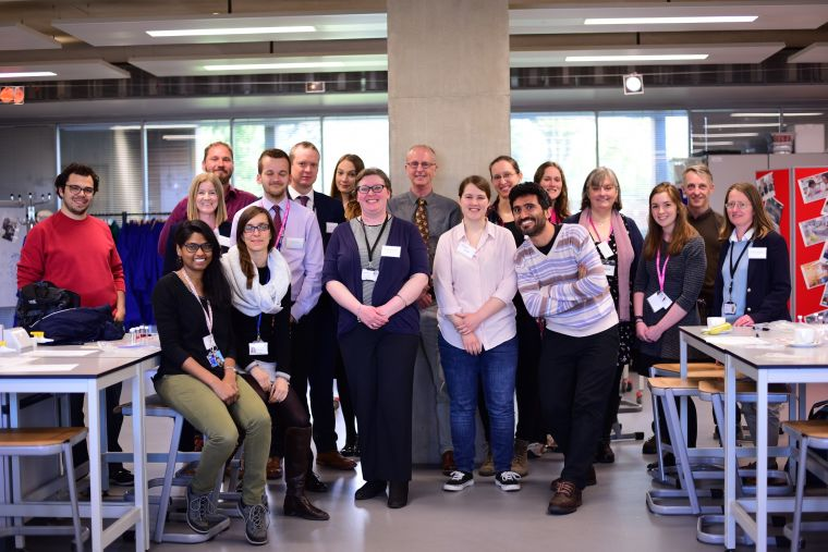 MRC HIU researchers with local teachers at the microscopy and immunology workshop