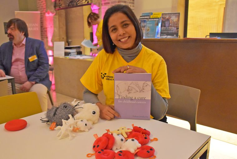 MRC WIMM researcher Andi Roy at the Living library, part of the Oxford Science and Ideas Festival 2019