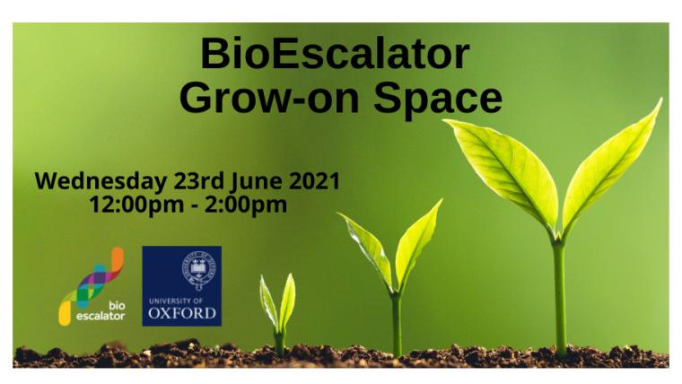 BioEscalator Grow On Space 2021 Flyer