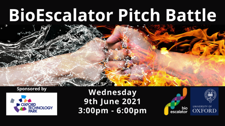 BioEscalator Pitch Battle 2021 Flyer