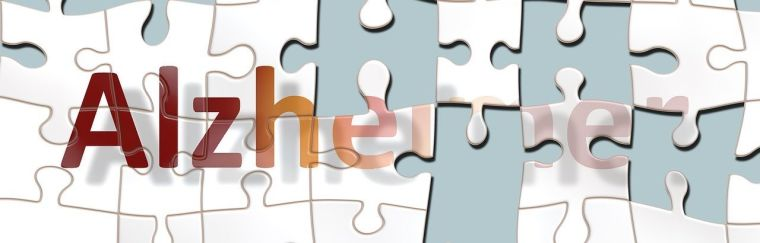 Incomplete puzzle showing the word Alzheimers