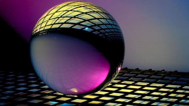 Glass Orb with Patterns. Photo credit: Michael Dziedzic @lazycreekimages on Unsplash. https://unsplash.com/photos/qDG7XKJLKbs