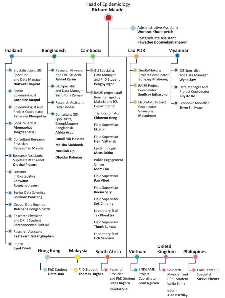 Epidemiology organogram