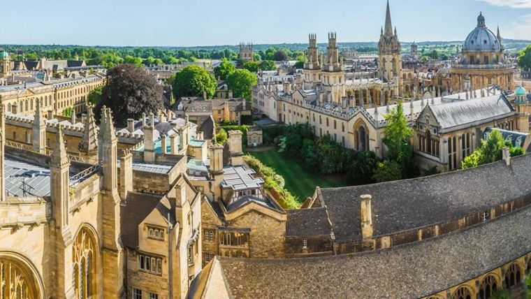View of Oxford skyline