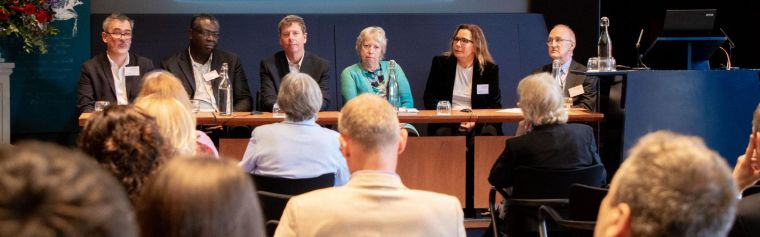 Panel of speakers at DPUK's five-year anniversary event in 2019