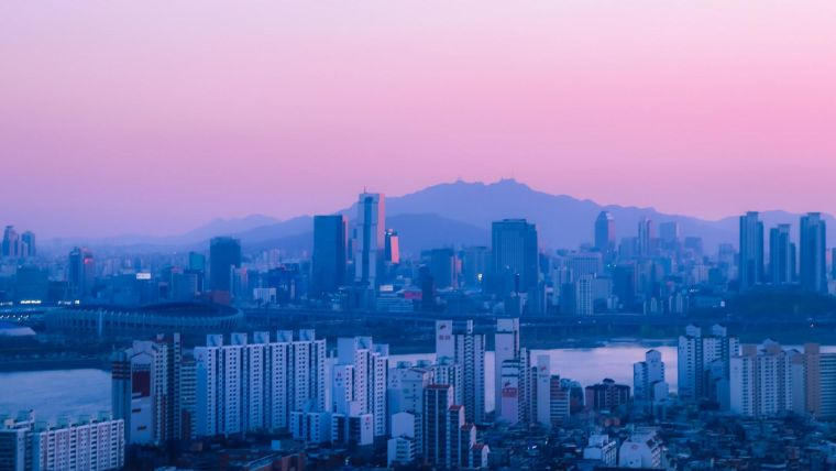 An image of the Seoul skyline in the Republic of Korea.