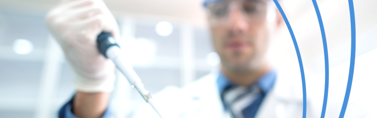 Man holding pipette