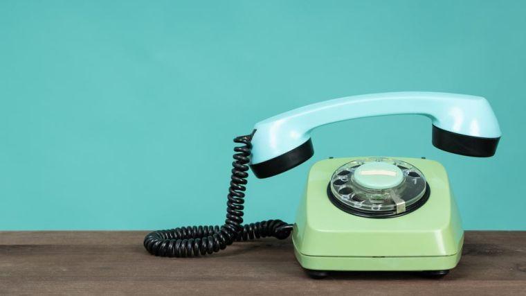 A telephone rings