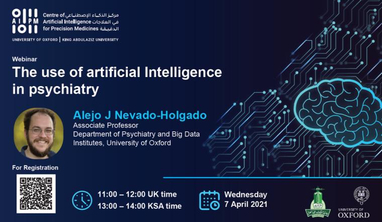 Webinar the use of artificial intelligence in psychiatry by Prof Nevado-Holgad