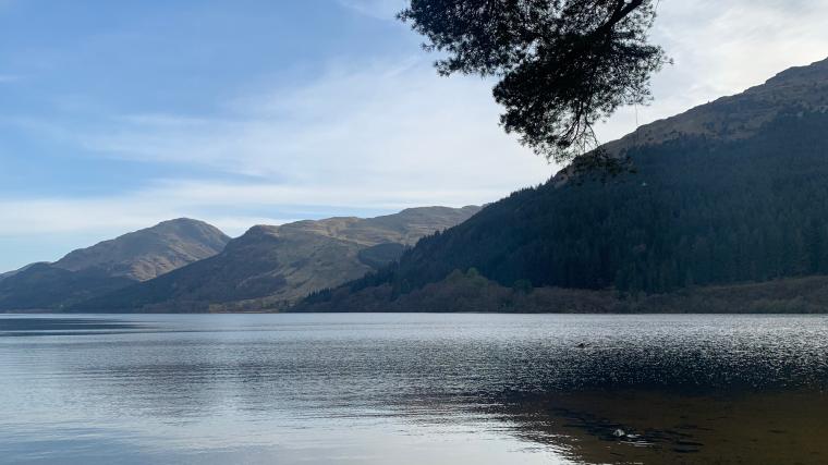 A lake and a mountain