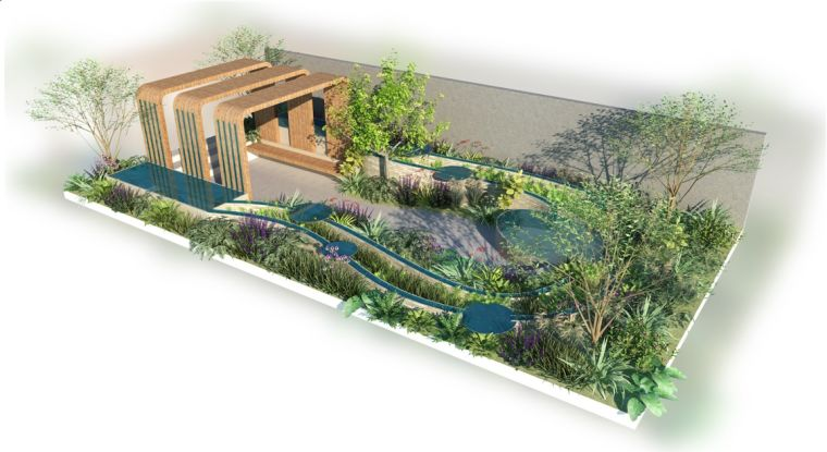 Graphic illustration of the NHS tribute garden