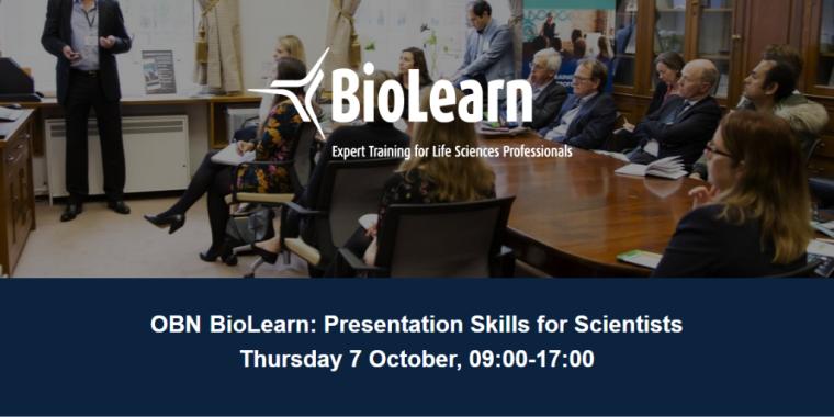 OBN BioLearn: Presentation Skills for Scientists Flyer