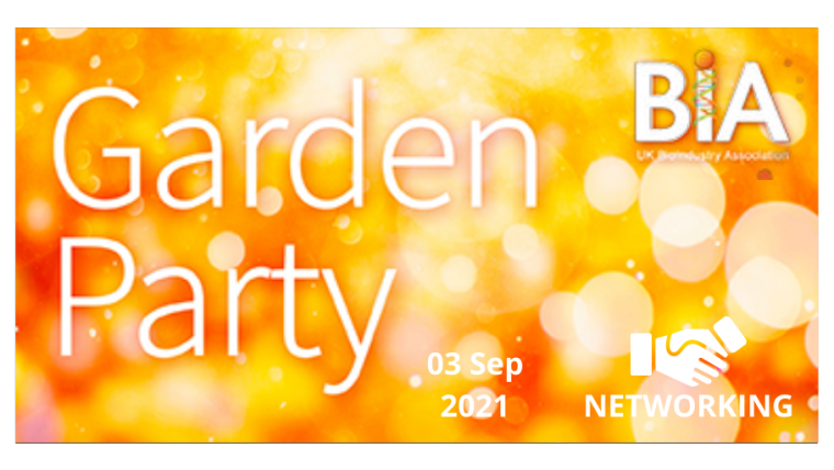 BIA Garden Party 2021 flyer