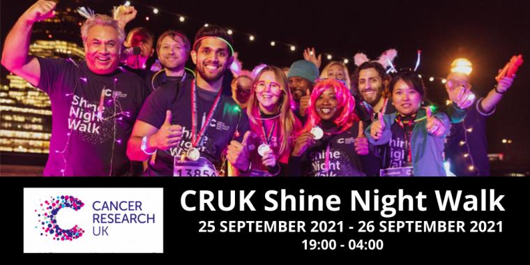 CRUK Shine Night Walk 2021 Flyer