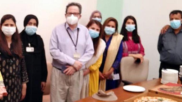 Professor M. Asim Beg and the COPCOV team at Aga Khan University in Pakistan