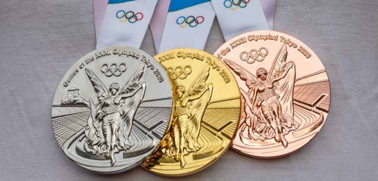 Bronze, silver and gold Toyko Olympic medals