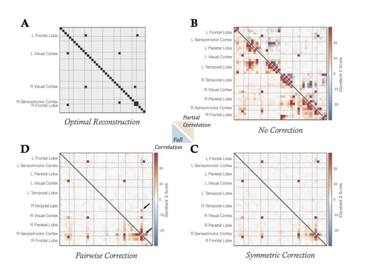 Comparison of spatial leakage corrections.