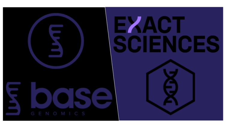 Base genomics logo in blue with large white boarder surrounding
