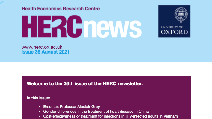 Banner for HERC Newsletter - Issue 36 - August 2021