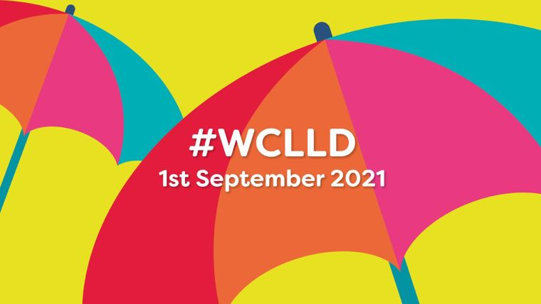 Umbrella graphic with 'WCCLD' wording superimposed on top