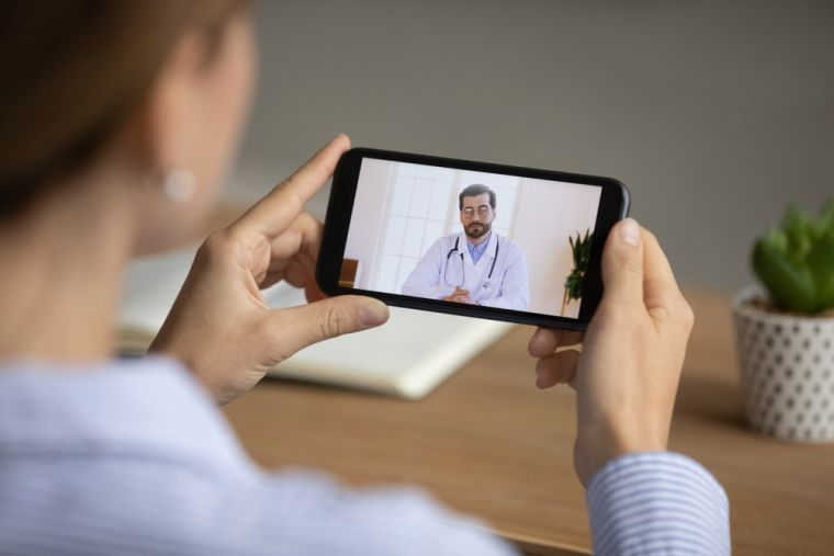 Photo of a Remote consultation with a doctor using a video phone