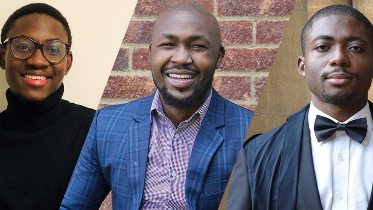From L-R: Oluwasegun (Segun) Afolaranmi, Elisha Ngetich and Nwangele Godwin (Emeka) Chukwuemeka