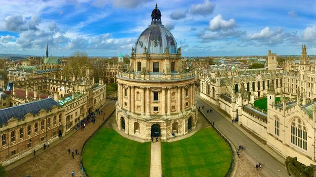 Oxford University's Radcliffe Camera and surrounding buildings