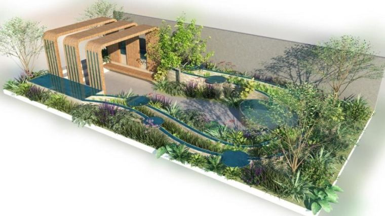 Designer illustration of the Finding our Way NHS Tribute Garden