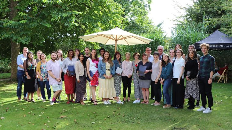 NDS staff who received awards at the awards ceremony in Oxford Botanic Garden.